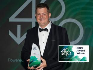 Cameron Scadding receives 40under40WA award