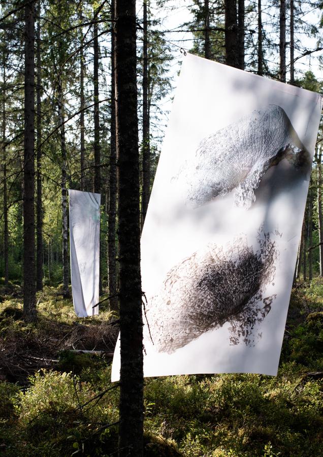 """Laimtoda Malle Instalācija  """"SEDIMENTS (part II)"""" 2020  foto: Kristīne Krauze Slucka"""