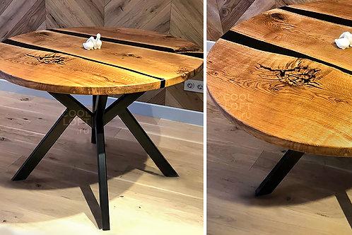 Круглый кухонный стол из массива дуба