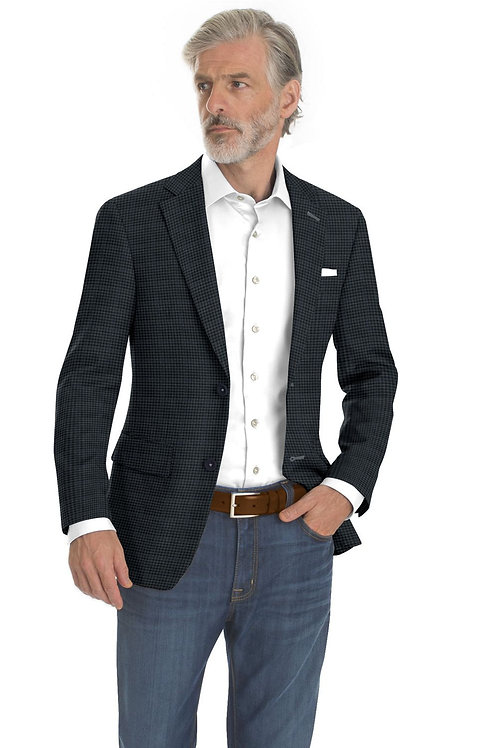 Navy and Blue Check Sport Coat