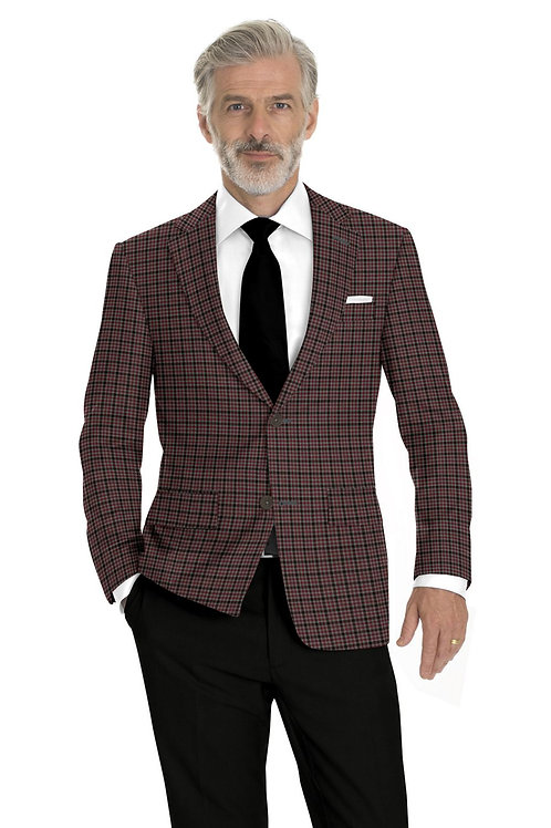 Grey, Red and Black Check Sport Coat