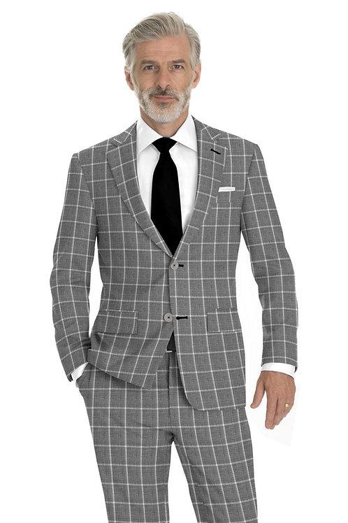 Light Grey Windowpane Suit