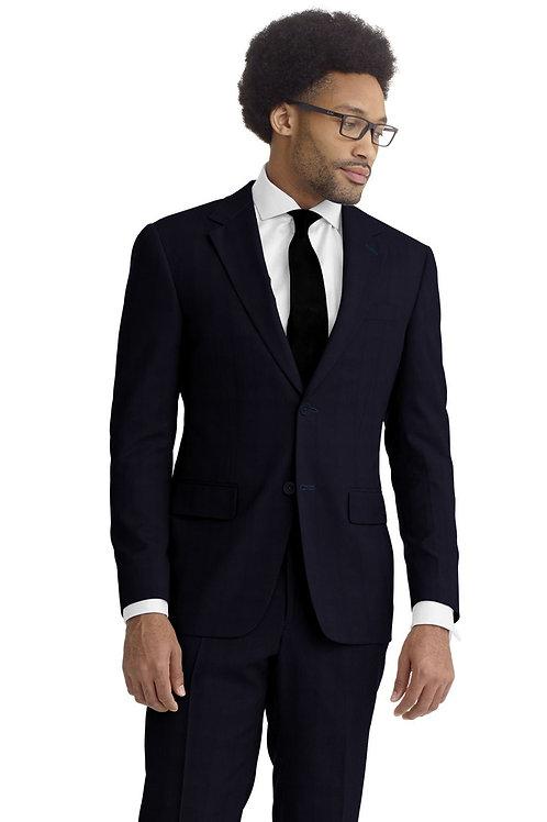 Navy Hopsack Suit