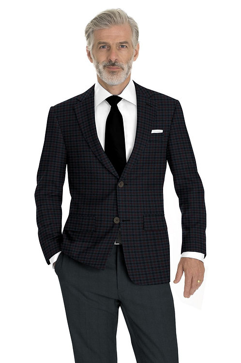 Blue and Red Plaid Sport Coat