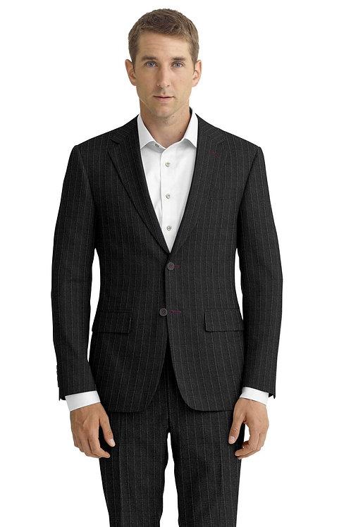 Light Gray Beaded Stripe Suit