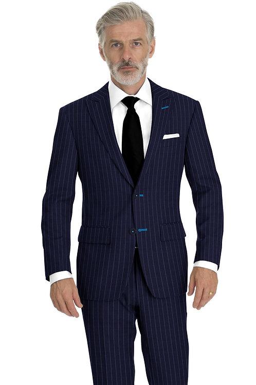 Royal Blue Chalk  Stripe Suit