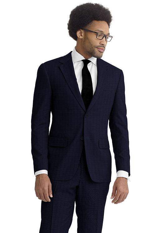 Navy Tic Weave Suit