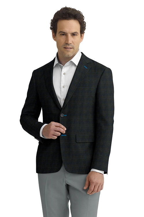 Grey and Blue Plaid Sport Coat