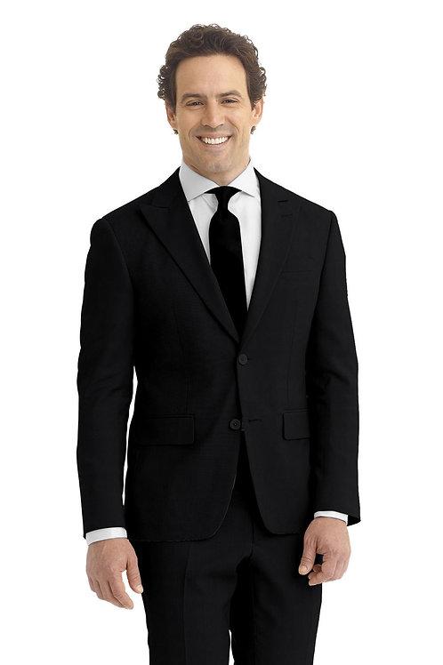 Black Hopsack Suit