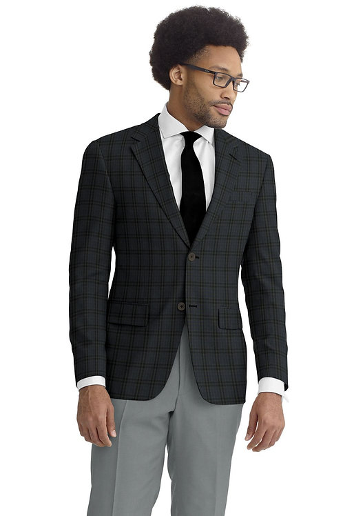 Grey and Blue Check Sport Coat