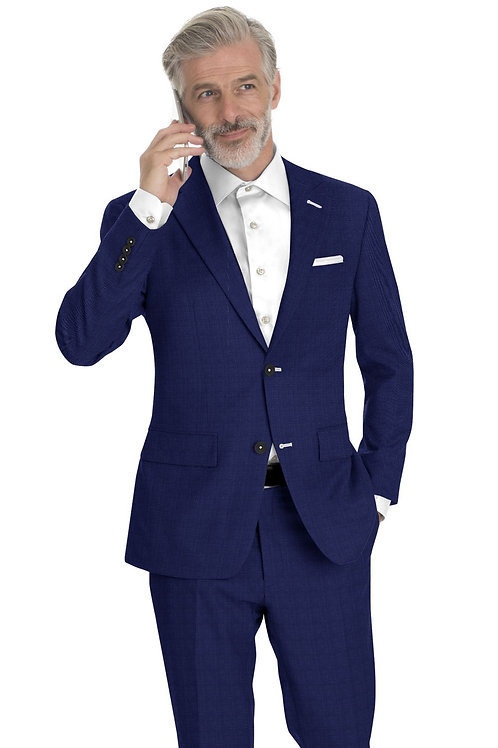 Blue Sharkskin Suit