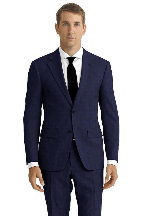 Blue Tic Weave Suit
