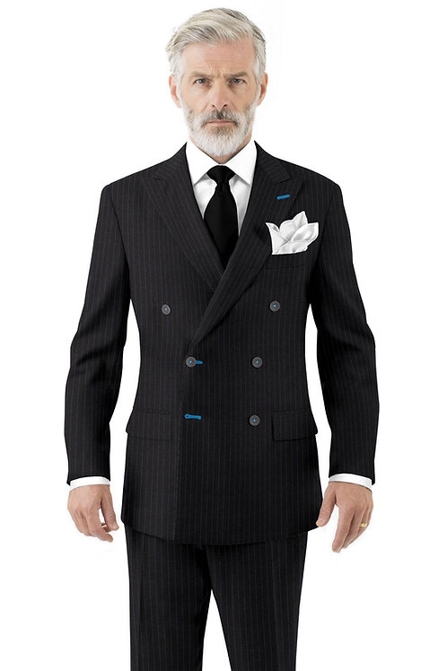 Charcoal with Blue Stripe Suit