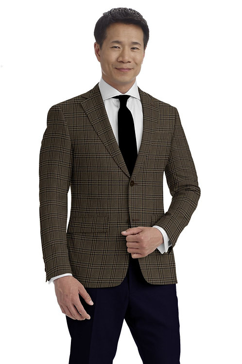Brown and Blue Plaid Sport Coat