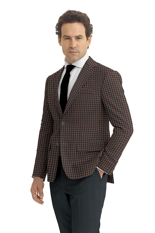 Grey and Red Check Sport Coat