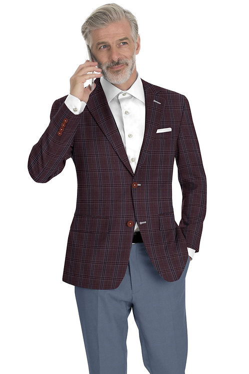 Berry and Blue Plaid Sport Coat