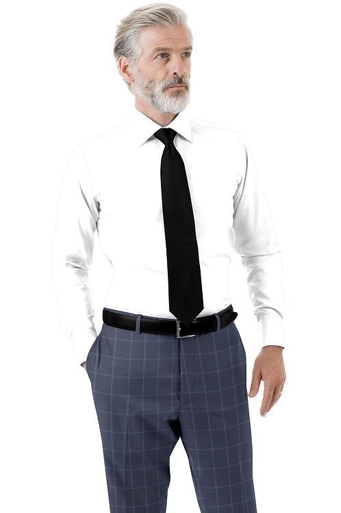 Navy Blue Windowpane Trouser