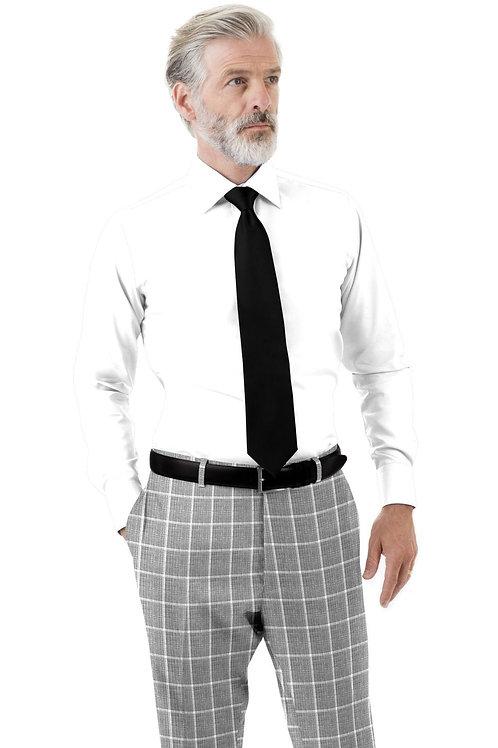 Light Gray Windowpane Trouser