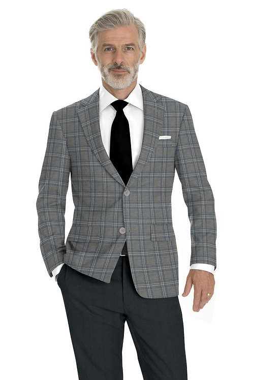 Light Grey and Blue Sports Coat