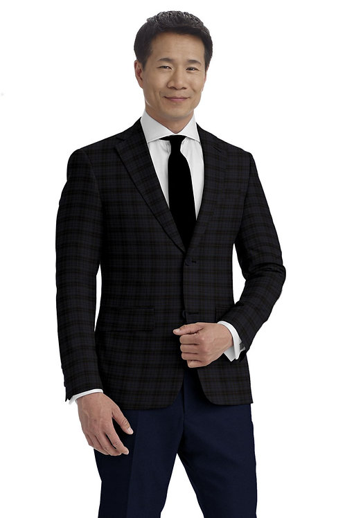 Maroon and Blue Check Sport Coat