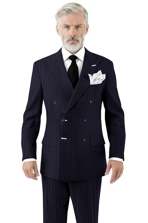 Navy Beaded Stripe Suit