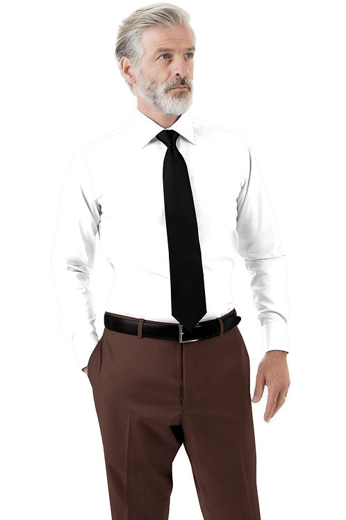Brown Solid Trouser