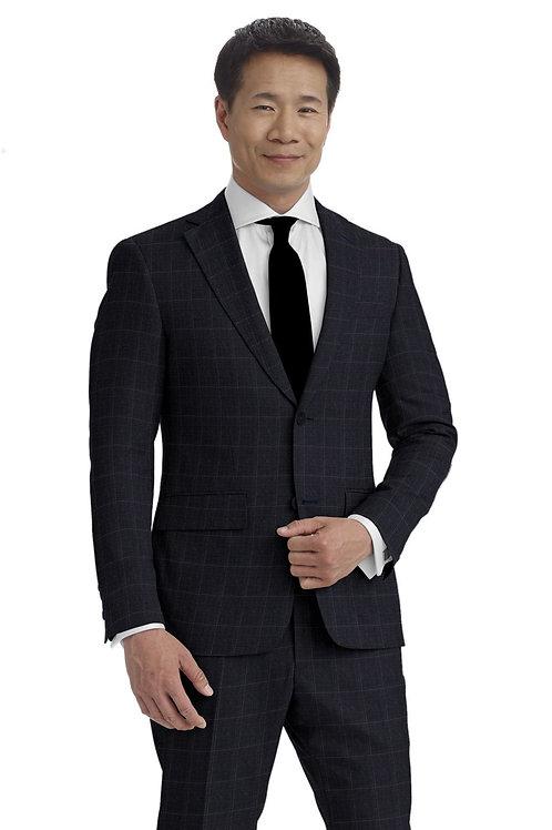 Navy and Violet Glen Plaid Suit