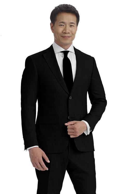 Charcoal Tic Weave Suit