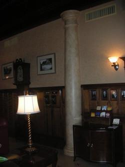 Hotel Boulderado Faux Stone Pillars