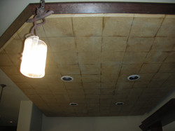 Faux Mexican Tile Ceiling