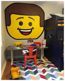 Henry LOVES his Legos!...