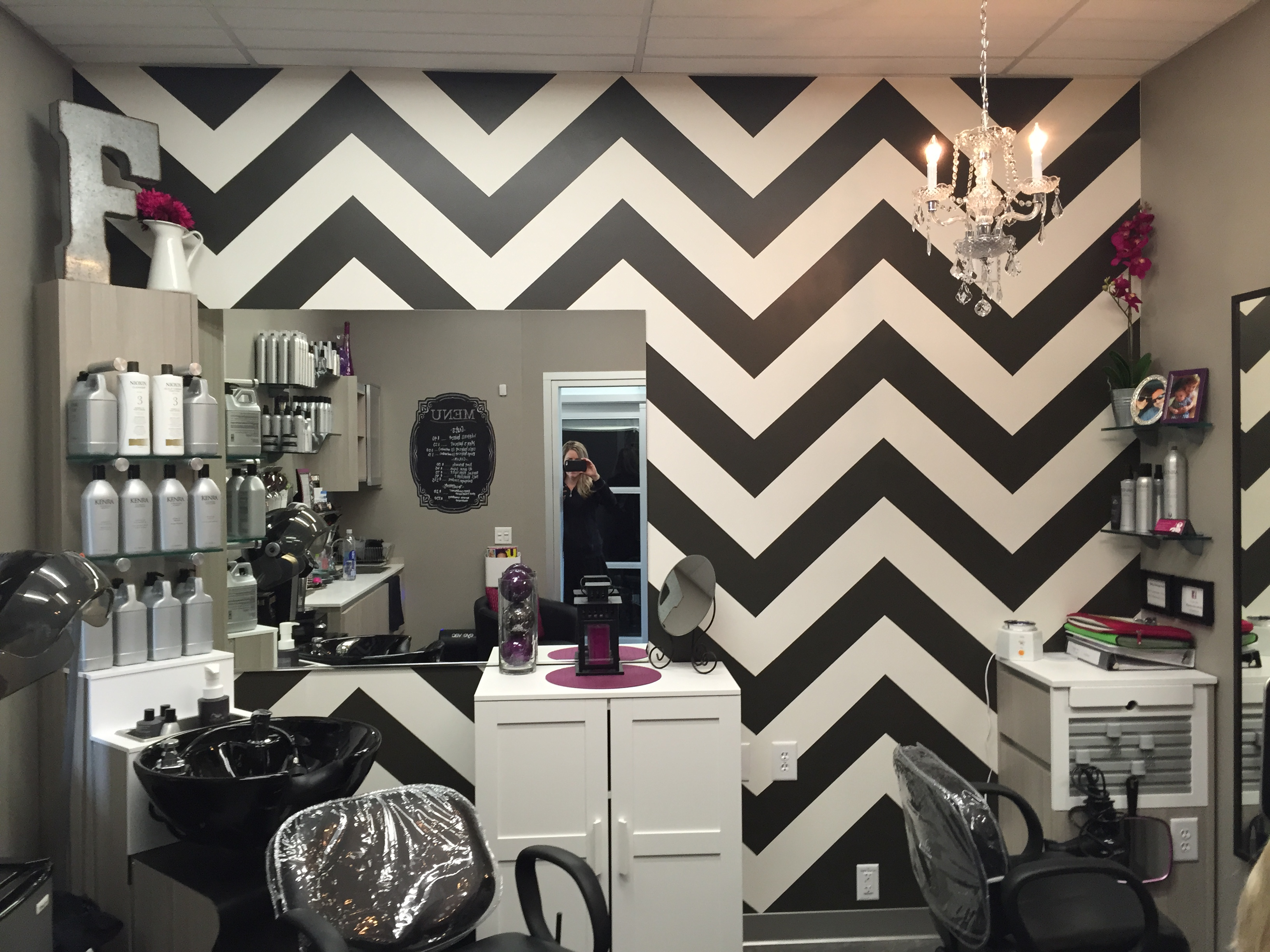 Chocolate Chevron in a local Salon