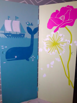 Graphic Whale and Flower