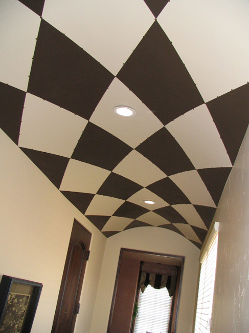 Harlequin Diamond on domed ceiling.