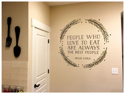 Painted Kitchen Quote