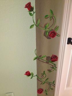 Rose Vine on Faux Pillar