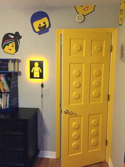 Painted Lego door?! oh yeah.