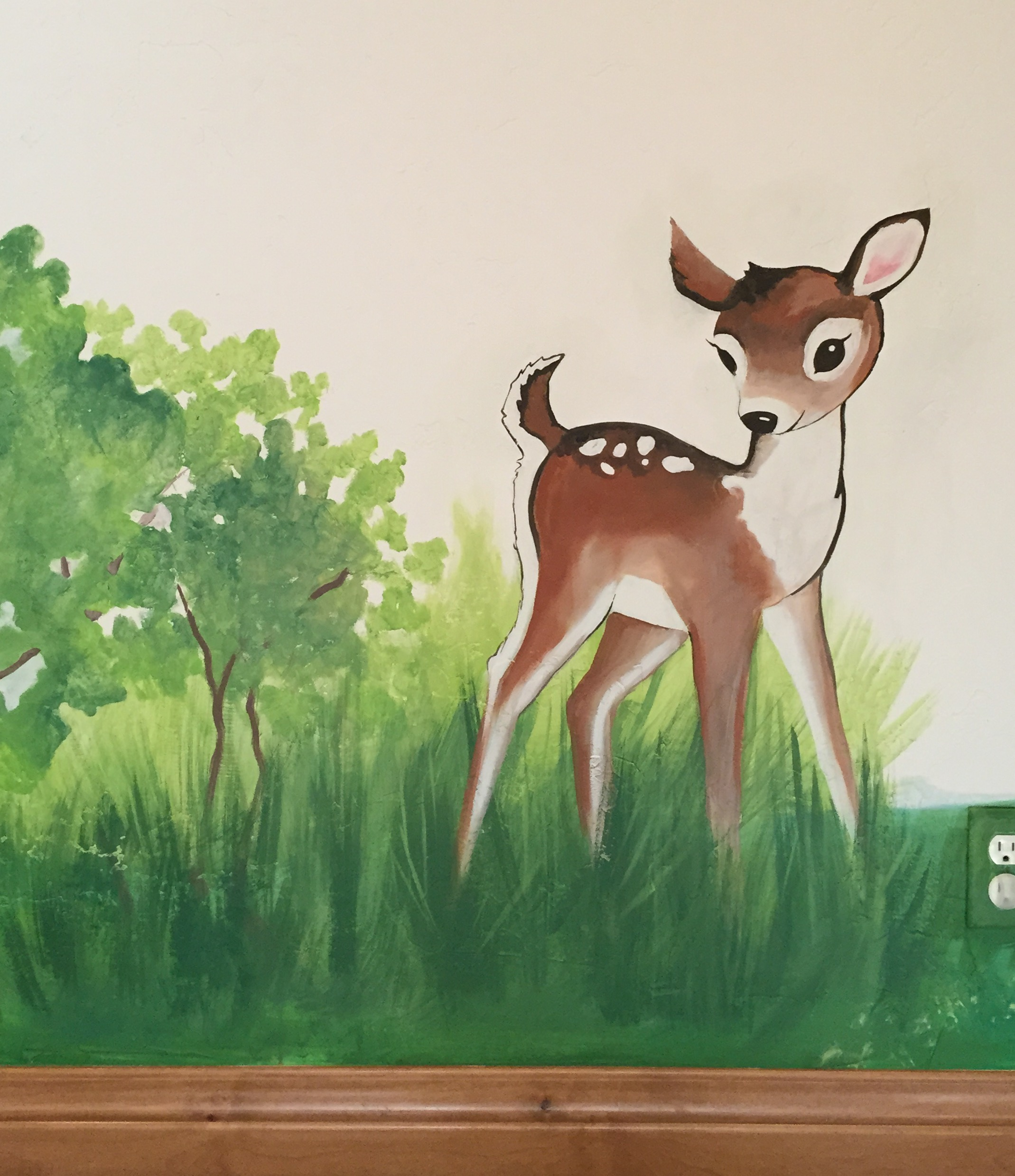 Woodland Playroom Deer