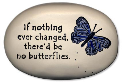 "3.5"" x 5"" x 1  ""If nothing ever changed, there'd be no butterflies."""