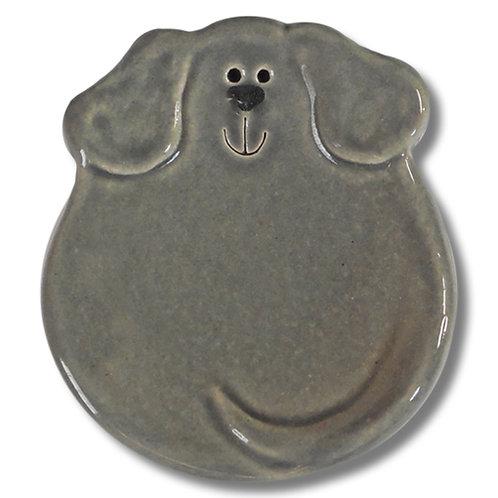"""3"""" Mini Dog Dish: Solid Gray"""