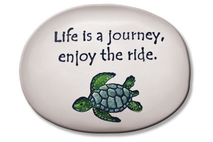 "3.5""x5""x1  ""Life is a journey, enjoy the ride."""
