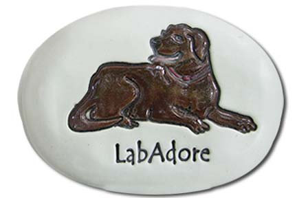 "3.5"" x 5"" x 1  ""LabAdore"" Chocolate lab"