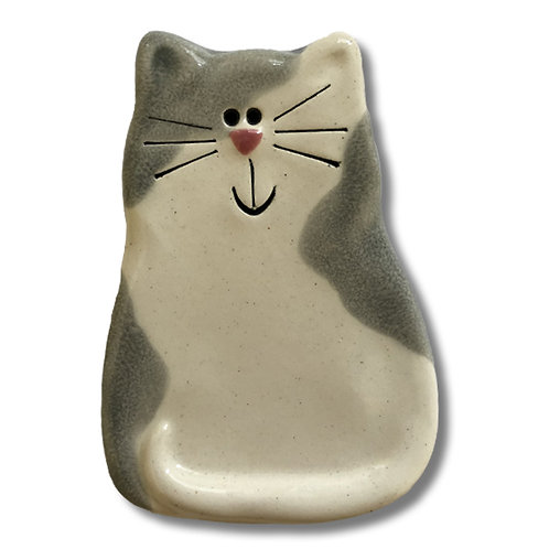 "3"" x 2"" Cat Magnet: Spotted Gray"