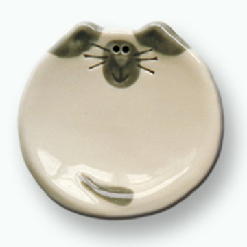 "3"" Mini Cat Dish: White Siamese"