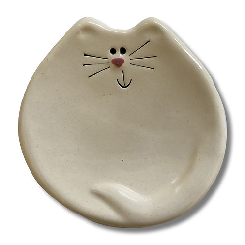 "3"" Mini Cat Dish: Solid White"