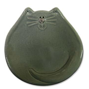 "5"" Cat Dish: Solid Gray"