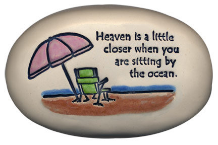 """3.5"""" x 5"""" x 1 """"Heaven is a little closer when you are sitting by the ocean."""""""