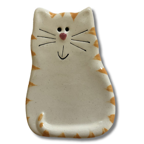 "3"" x 2"" Cat Magnet: White &Yellow Tiger"
