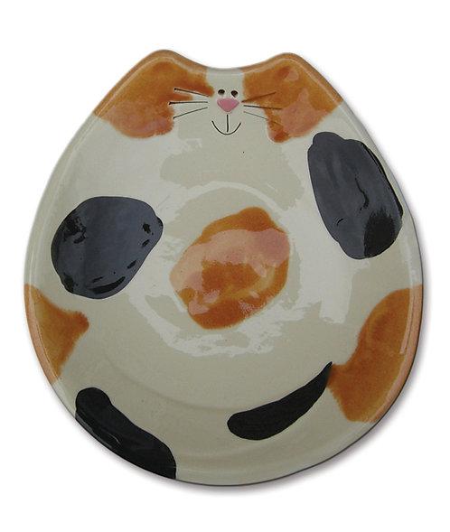 """6""""x7""""x1"""" Cat Feeding Dish: Calico"""