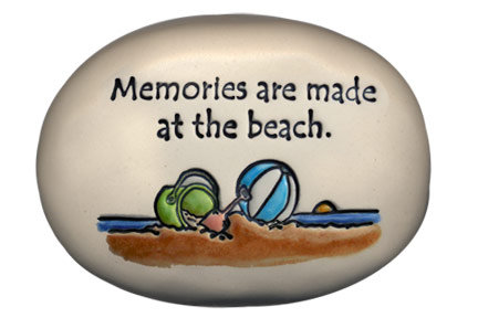 "3.5"" x 5"" x 1  ""Memories are made at the beach"""